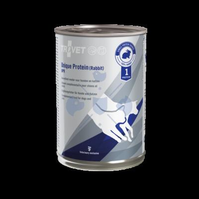 TROVET UNIQUE PROTEIN RABBIT /UPR  6 x 400 g Hipoallergén monoprotein konzerv kutyáknak és macskáknak