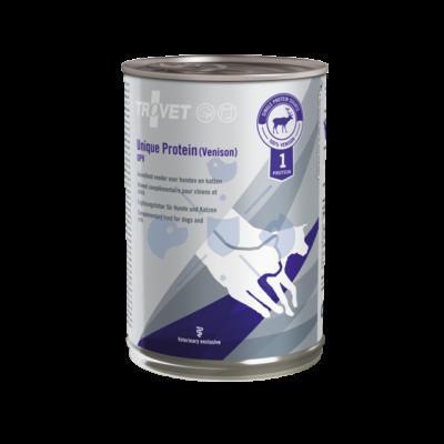 TROVET Unique Protein UPV Venison 400 g hipoallergén monoprotein konzerv kutyáknak és macskáknak