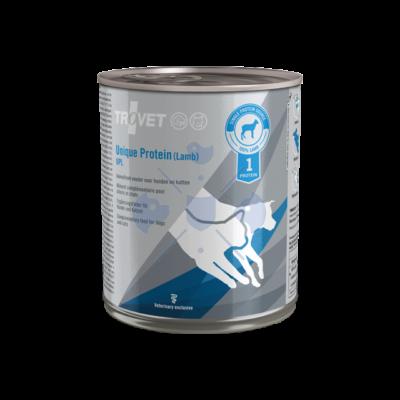TROVET UNIQUE PROTEIN  LAMB/ UPL  800 g Hipoallergén (monoprotein) konzerv kutyáknak és macskáknak